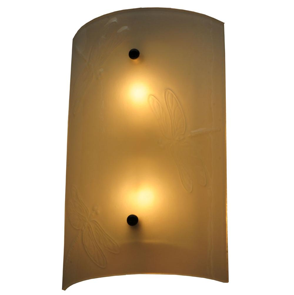 Meyda tiffany 141927 at wolff design center plumbing showrooms meyda tiffany 141927 9w metro fusion dragonfly glass wall sconce amipublicfo Image collections