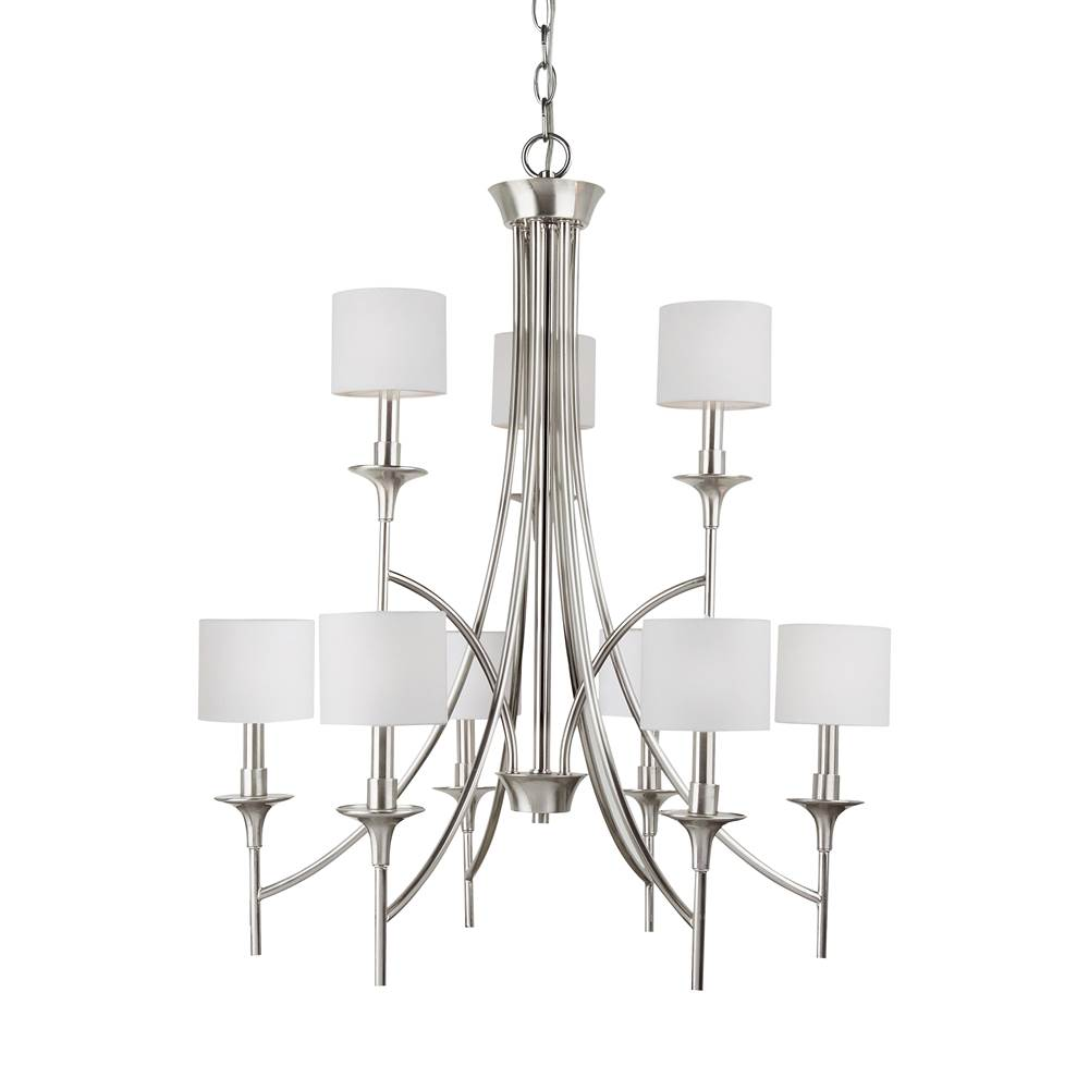 Sea gull lighting 31952 962 nine light chandelier
