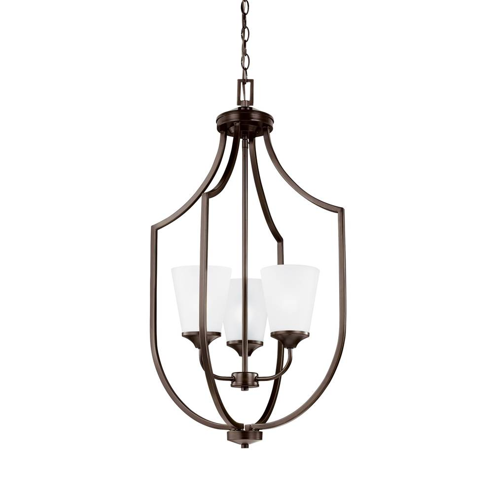 Sea gull lighting 5224503en3 710 three light hall foyer