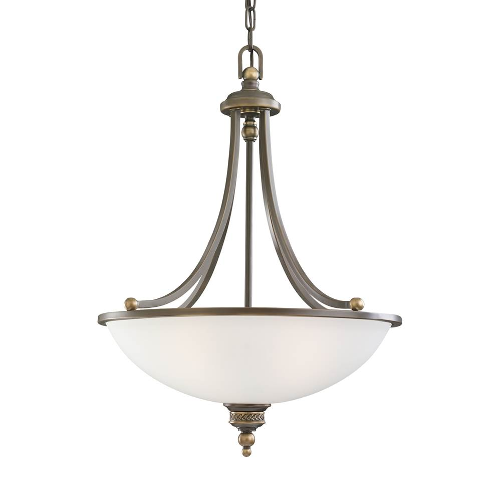Sea gull lighting 65351 708 three light pendant